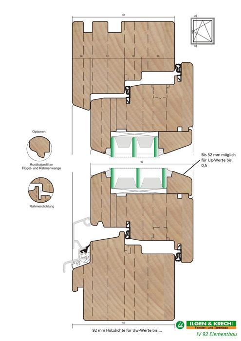 qualitative holzfenster der baureihe iv 92 vom fachmann